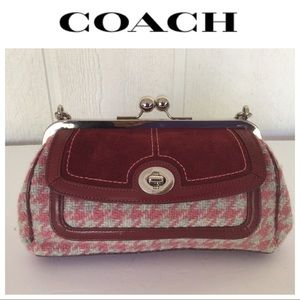 COACH PINK WOOL HOUNDSTOOTH LIMITED EDITION BAG